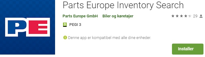 Find priser fra Parts Europe